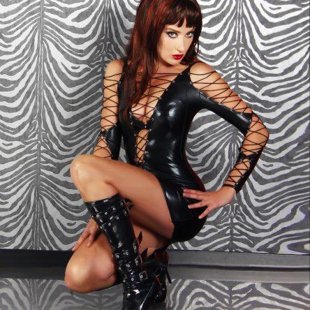 Sexy-Wetlook-Minikleid